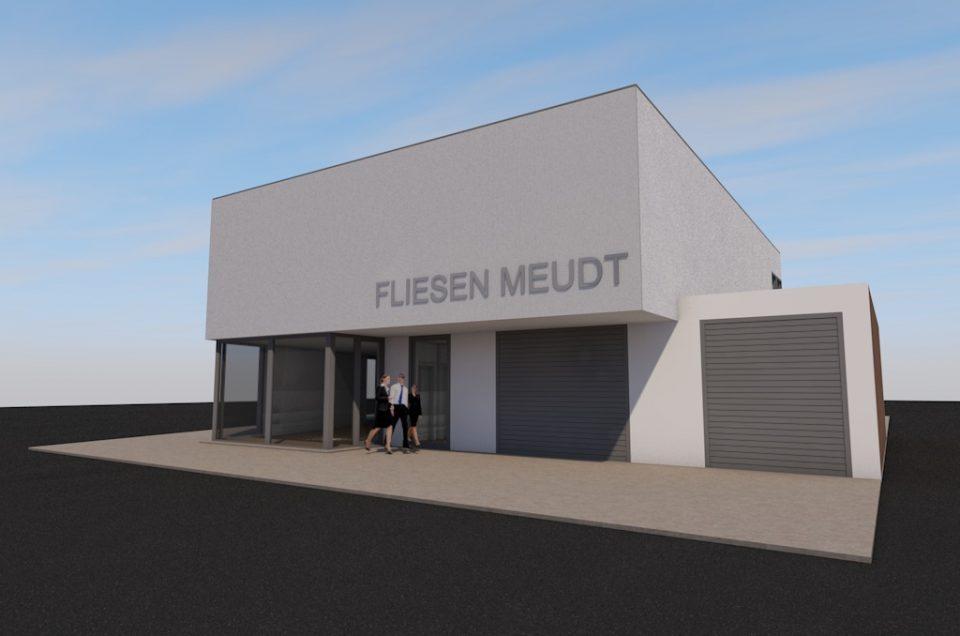 Wohnhaus und Fliesenpräsentation Fliesen Meudt in Hamm am Rhein