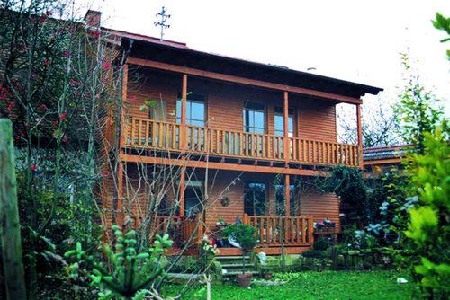 Holzhaus Erweiterung Hahl